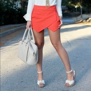 Zara Red Envelope Skort